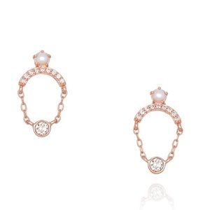 Petits Bijoux Pavé Pearl Drop Earrings 🌹